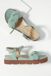Bruno Premi Abena Twisted-Front Sandals in Mint