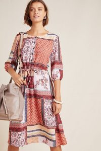 Aldomartins Serenity Patchwork Shirtdress in Pink Combo