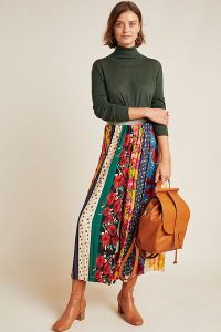 ANTHROPOLOGIE Spirited Patchwork Wide-Leg Trousers