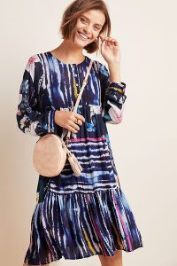 Bl-nk Meridian Striped Tunic Dress Blue Motif
