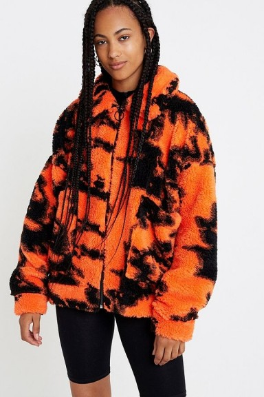 Jaded London Flame Teddy Jacket ~ oversized bright fluffy jackets