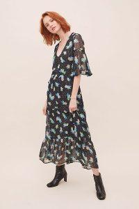 Primrose Park Alice Floral-Lurex Dress / flowing tiered hem dresses