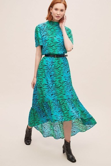 Primrose Park Regina Tiger-Print Skirt Blue Motif - flipped