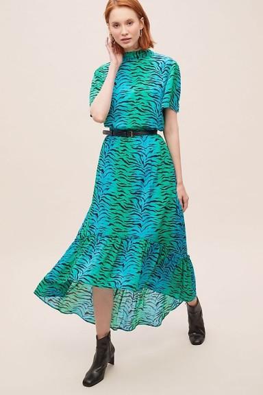 Primrose Park Regina Tiger-Print Skirt Blue Motif