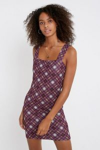 Urban Renewal Inspired By Liv Pink Checked Glitter Dress