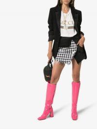 Balmain Denim And Houndstooth Wrap Mini Skirt / asymmetric skirts