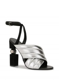 BALMAIN Jana high heel metallic-leather sandals