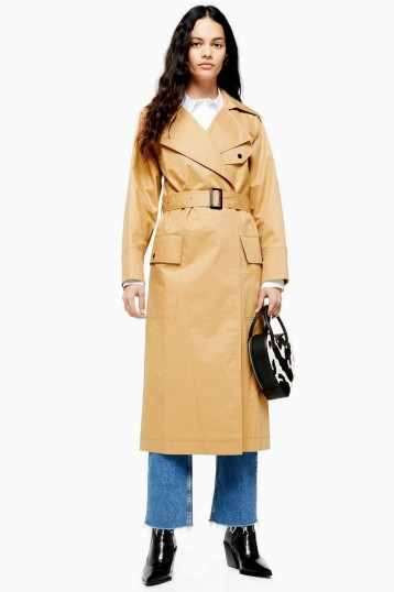 Topshop Belted Camel Trench Coat | autumn coats