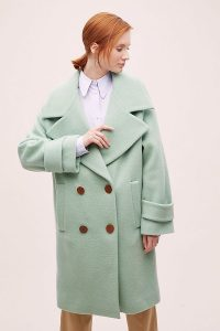 ANTHROPOLOGIE Rosa Oversized Coat Mint ~ light-green autumn coats