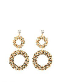 ROSANTICA BY MICHELA PANERO Caos crystal-embellished drop earrings / sparkling double hoop drops