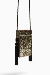 TOPSHOP COMO Gold Acrylic Boxy Bag