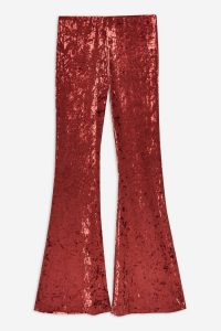 Band Of Gypsies Crushed Velvet Flared Trousers in Pink | retro pants