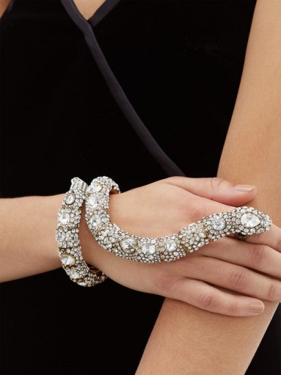 GUCCI Crystal-snake bracelet and ring cuff ~ eye-catching jewellery