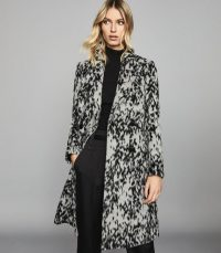 REISS DALA DOUBLE BREASTED ANIMAL PRINT COAT ~ glamorous outerwear