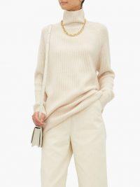MAX MARA Disco sweater in cream ~ luxe high neck sweaters