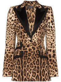 DOLCE & GABBANA leopard print tailored blazer / glamorous jackets