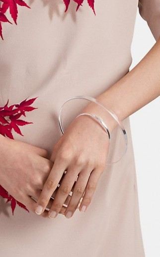 DRIES VAN NOTEN Acrylic Bangle ~ clear contemporary bangles