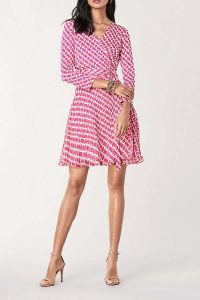 DVF Irina Silk-Jersey Chiffon Wrap Dress