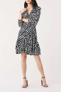DVF Paloma Ruffled Nylon Mesh Wrap Dress