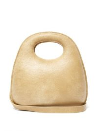 LEMAIRE Egg cracked beige-leather bag