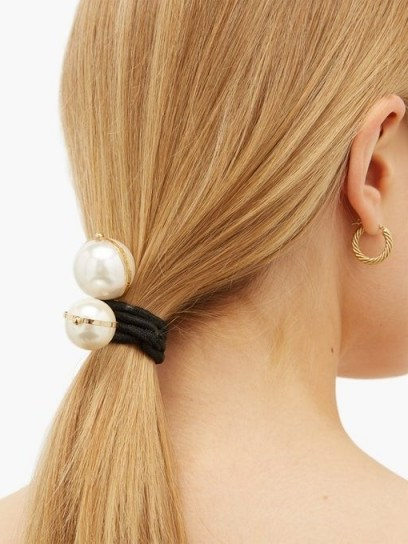 ROSANTICA BY MICHELA PANERO Epica faux-pearl hair ties | ponytail accessories - flipped