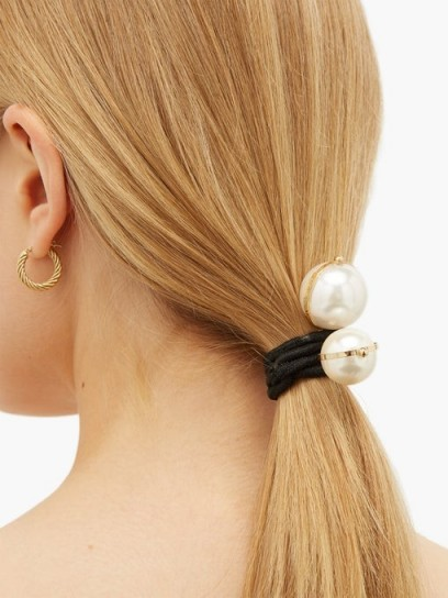 ROSANTICA BY MICHELA PANERO Epica faux-pearl hair ties | ponytail accessories