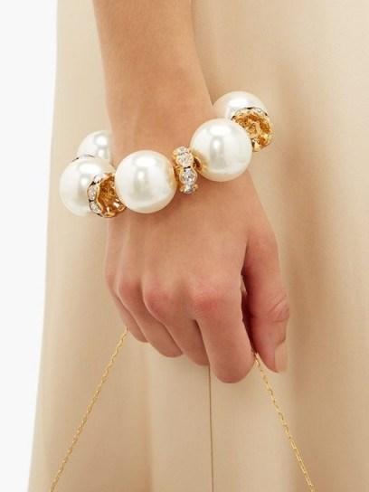 DOLCE & GABBANA Faux pearl-embellished bracelet ~ large pearls ~ chunky bracelets - flipped