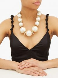 DOLCE & GABBANA Faux pearl-embellished necklace ~ Italian costume jewellery