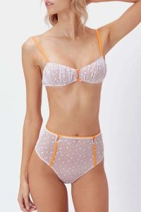 FOR LOVE & LEMONS MARZIPAN BRALETTE & HI WAIST PANTY SET