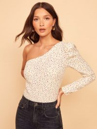 REFORMATION Francine Top in Birthday Cake