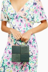 Topshop GIA Green Boxy Grab Bag | modern box bags