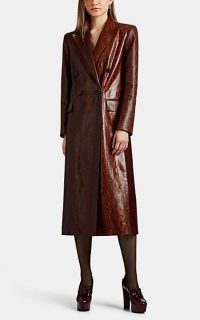 GIVENCHY Python-Stamped Leather Coat