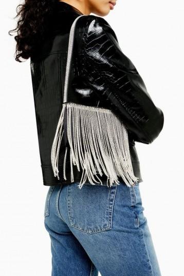 Topshop GLIMPSE Diamante Shoulder Bag | fringed bags