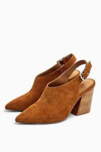 Topshop GOJI Slingback Western Heels | Autumnal colours