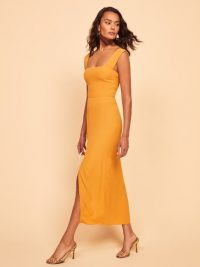 Reformation Graciella Dress in Sunflower