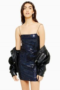 TOPSHOP Holographic Bodycon Dress / shimmering cami strap dresses