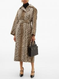 EMILIA WICKSTEAD Jill double-breasted leopard-print coat ~ vintage style glamour