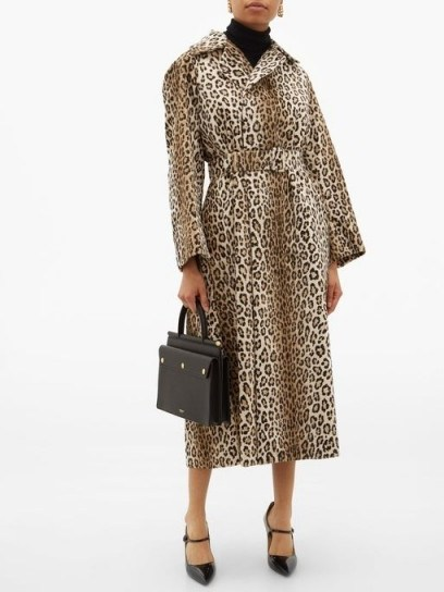 EMILIA WICKSTEAD Jill double-breasted leopard-print coat ~ vintage style glamour - flipped