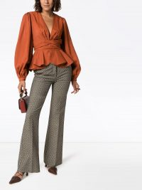 JOHANNA ORTIZ De Nuqui blouse – voluminous peplum blouses