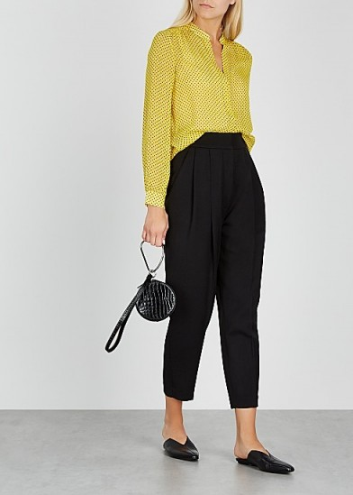 JOIE Mintee polka-dot silk-chiffon blouse / yellow blouses