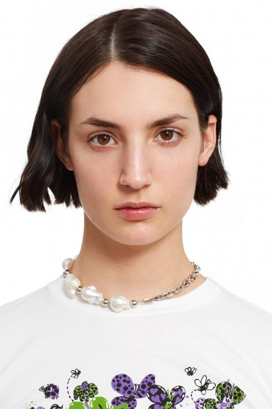 Justine Clenquet LAURIE CHOKER | chunky pearl chokers | large freshwater pearls
