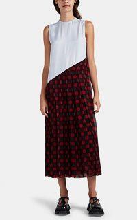 J.W.ANDERSON Mixed-Media Asymmetric Dress / sleeveless asymmetrical dresses