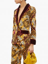 F.R.S – FOR RESTLESS SLEEPERS Kakia tiger-print velvet jacket in yellow / luxe jackets