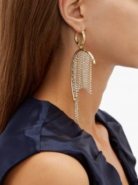 ELLERY Latham crystal-strand drop earrings