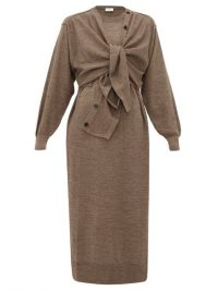 LEMAIRE Layered wool-blend cardigan dress