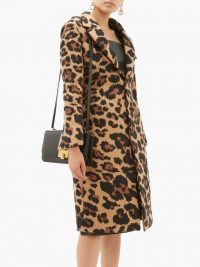 BOTTEGA VENETA Leopard-jacquard single-breasted coat ~ instant glamour
