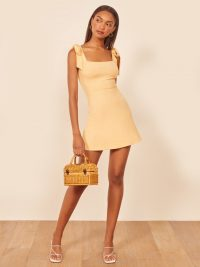 Reformation Liz Dress in Lemon