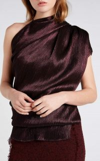 ROLAND MOURET LYAN TOP in Garnet Metallic