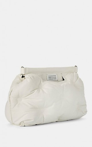 MAISON MARGIELA Glam Slam Medium White Leather Shoulder Bag ~ quilted bags