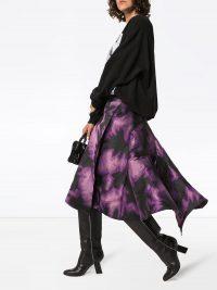 MARQUES'ALMEIDA tie-dye wrap skirt in purple